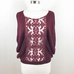 Free People | Oversize Lace Sweater Shrug - L -